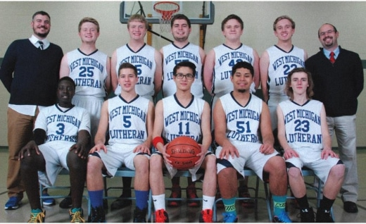 2015 - 2016 Men's Basketball Team Photo